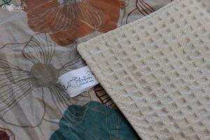 Lot de 5 feuilles d'essuie tout lavables en nid d'abeilles de coton écolabellisé – Fleurs vintage – avec ou sans boutons pression