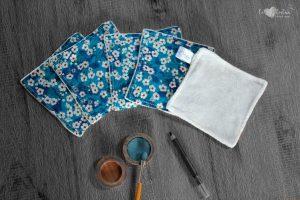 Lot de 5 lingettes démaquillantes lavables en micro éponge de bambou écolabellisé – LIBERTY Mitsi
