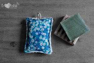 Éponge lavable en éponge de coton, rembourrage : upcycling de chute de tissus – Liberty Mitsi