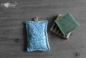 Éponge lavable en éponge de coton, rembourrage : upcycling de chute de tissus – Liberty Adelajda