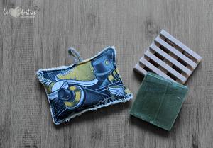Éponge lavable en éponge de coton, rembourrage : upcycling de chute de tissus – Street Style