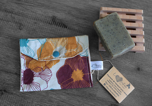 Pochette savon – fleurs vintages