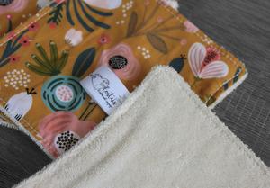 Coffret cadeau salle de bain – Ocre fleuri
