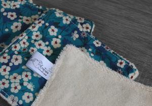 Lot de 5 lingettes démaquillantes lavables en micro éponge de coton écolabellisé – Liberty Mitsy