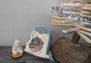 Pochette cadeau Bébé renne Noël – 29x26cm