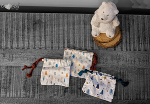 Pochette cadeau bijoux Noël – 8x10cm – Noël ski