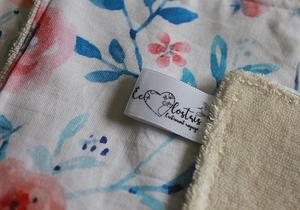 Lot de 5 lingettes démaquillantes lavables en micro éponge de coton écolabellisé – fleurs pastel