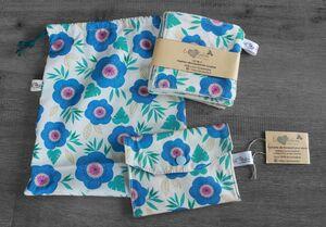 Coffret cadeau salle de bain – Grosses fleurs bleues