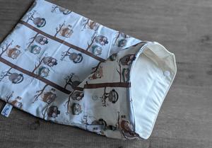Sac à couches – Taille M (40x25cm) – hiboux